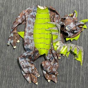 EUC Infant Dragon Costume 18-24M | Blue & Lime